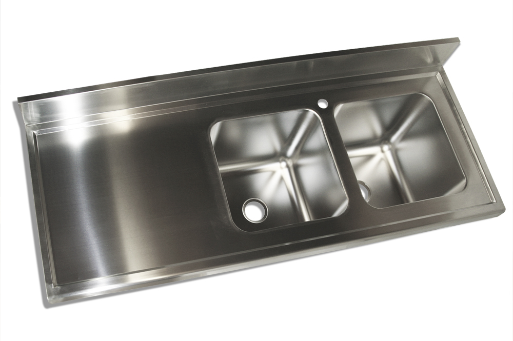 1800x700 New Commercial Double Bowl Kitchen Sink 304