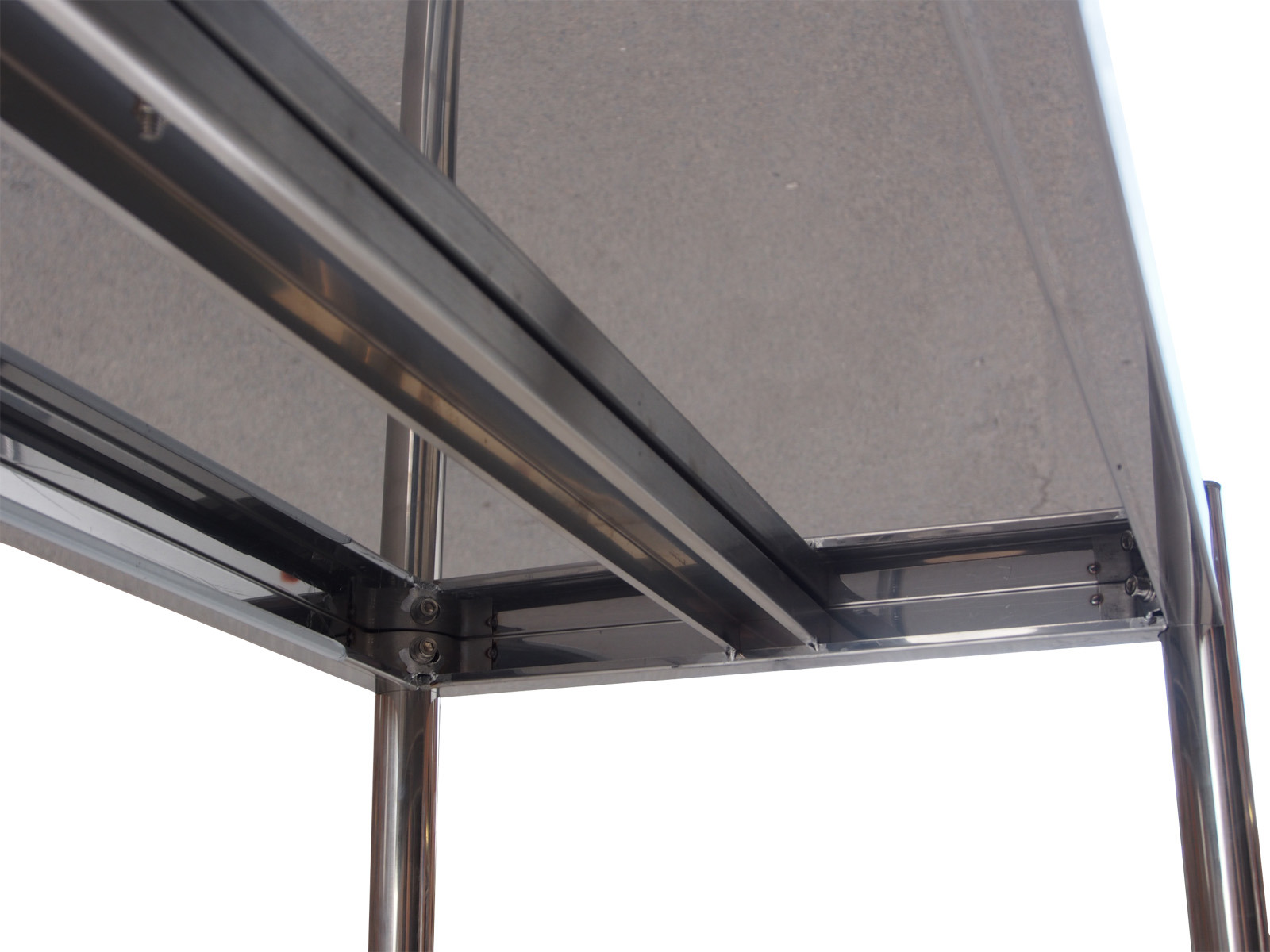 4 Tier 1800mm X 500mm Stainless Steel Shelf Unit Kitchen Shelving Display Unit