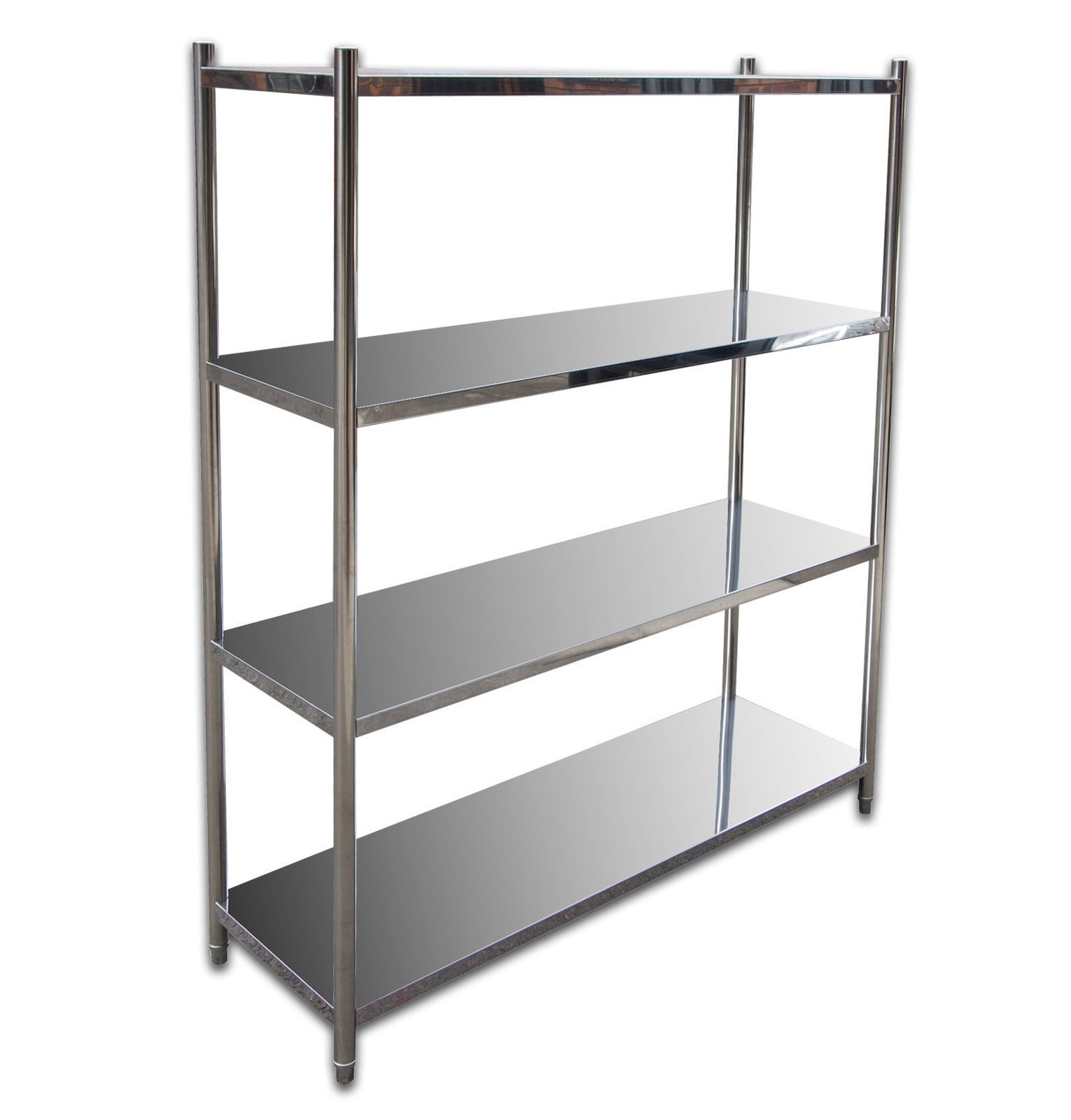 4 tier 1500mm x 500mm stainless steel shelf unit kitchen shelving display unit ebay