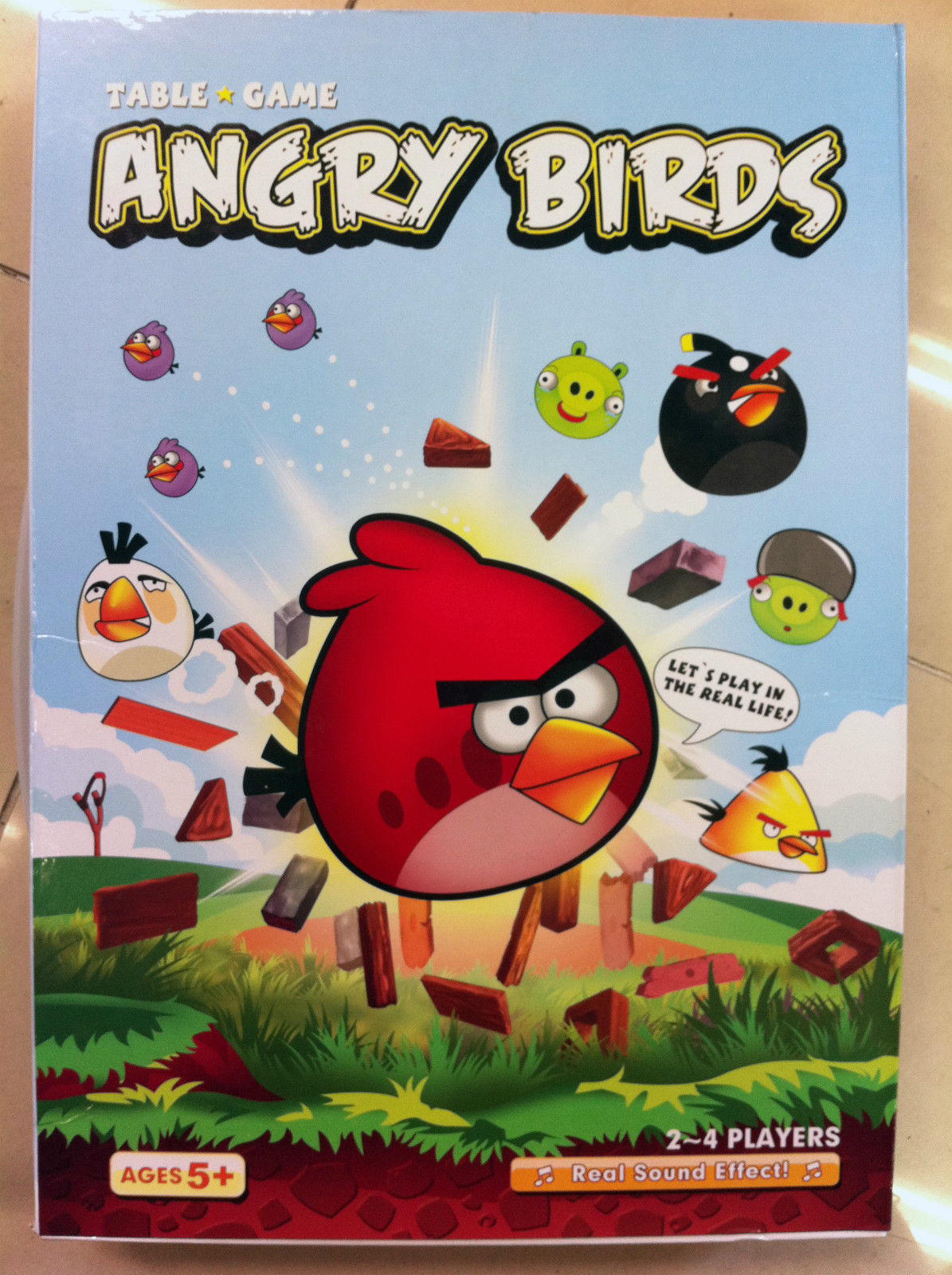 Angry Birds Table Board Game with **Real Sound**!